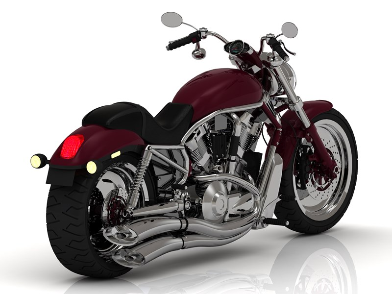new dark red motorcycle